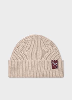 Paul Smith Women's Beige Cashmere-Blend Beanie Hat