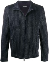 Giorgio Armani Ribbed Zip-Up Jacket
