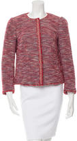RED Valentino Collarless Tweed Jacket