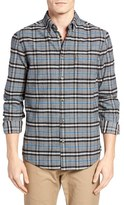 Ben Sherman Men's Mod Fit Prince Of Wales Plaid Flannel Shirt