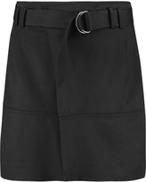 Vince Belted twill mini skirt