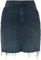 Mother frayed mini skirt