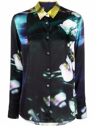 Paul Smith Graphic-Print Long-Sleeve Shirt