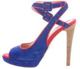 Moschino Bicolor Suede Sandals