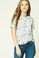 Forever 21 Floral Print Boxy Tee