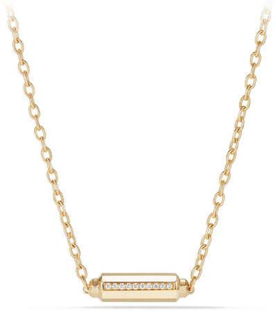David Yurman Faceted Barrel Necklace with Diamonds
