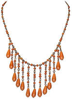 One Kings Lane Vintage 1920s Coral Celluloid Drop Bib Necklace