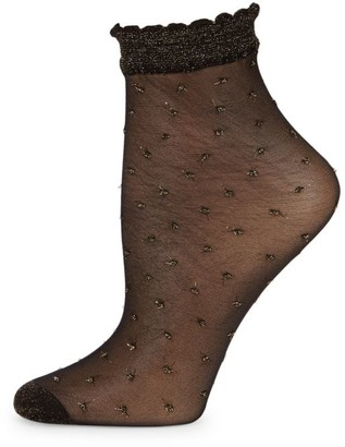 Fogal Keira Lurex Dot Ankle Socks