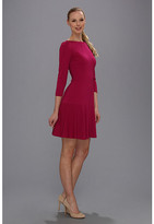 Nine West Long Sleeve Drop Waist Dress