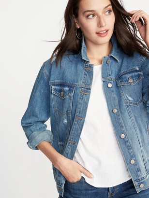 Old Navy Distressed Boyfriend Jean Jacket For Women