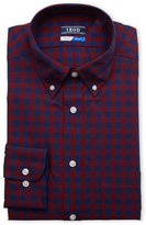 Izod Burgundy Plaid Quick Dry Dress Shirt