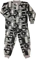 Snoozers MVP Slapshot Print Cotton Flannel Pajama Set (LG)