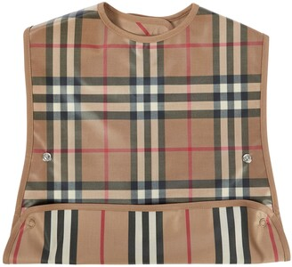 BURBERRY KIDS Baby Vintage Check coated cotton bib