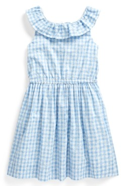 Polo Ralph Lauren Little Girls Gingham Cotton Poplin Dress