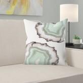 """Fresh Water Agate Throw Pillow East Urban Home Size: 14"""" H x 14"""" W x 1.5"""" D"""