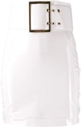 Elisabetta Franchi oversized belt high-waisted skirt