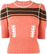 Miu Miu embroidered cropped sweater