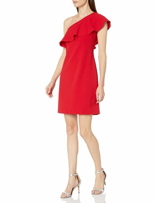 Julia Jordan Women's One Shoulder Ruffle Dress
