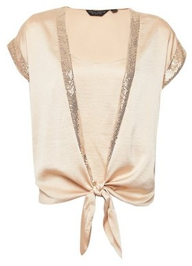 Dorothy Perkins Womens Champagne Sequin 2