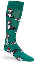 Hot Sox Boston Terrier Christmas Crew Socks