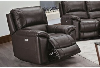 Red Barrel Studio Lurmont Power Recliner Upholstery Color: Espresso Leather Match