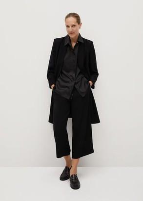 MANGO Structured long blazer black - S - Women
