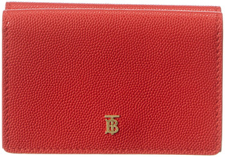 Burberry Small Grainy Leather Folding Wallet