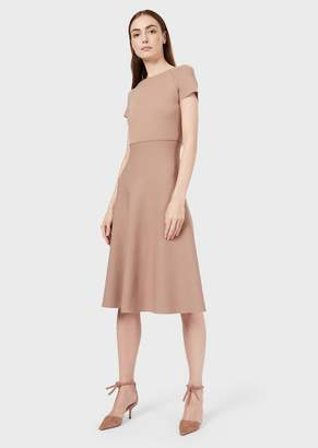 Giorgio Armani Two-Colour Flared Midi Dress