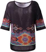 Etro paisley pattern T-shirt - women - Spandex/Elastane/Viscose - 42
