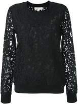 MICHAEL Michael Kors floral lace sweatshirt