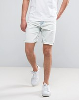 Celio Denim Shorts In Bleached Wash