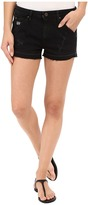 G Star G-Star 5620 Boyfriend Ripped Shorts Eva Shaw Collection in Black Edington Stretch Denim