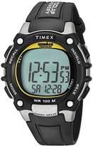 Timex Men's T5E231 Ironman Classic 100 Black/Yellow Resin Strap Watch