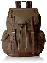 Fossil Defender Waxed Canvas Rucksack Back pack