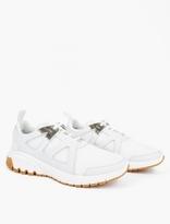 Neil Barrett White Molecular Running Sneakers