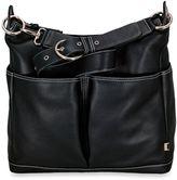 OiOi Hobo Leather Diaper Bag in Black