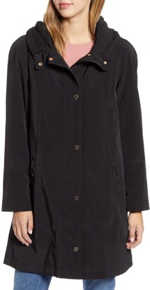 Gallery Hooded Raincoat with Removable Liner