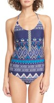 Roxy Band It Print One-Piece Swimsuit