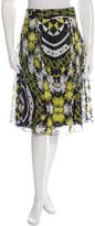 Christian Lacroix Pleated Geometric Print Skirt