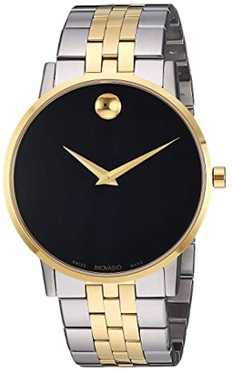 Movado Museum Classic - 0607200 (Black/Two-Tone) Watches
