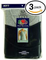 Fruit of the Loom Men's 3Pack Black & Grey A Shirts Tank Tops Undershirts 2XL