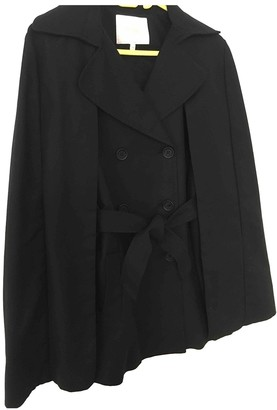 Maje Spring Summer 2019 Black Cotton Trench coats