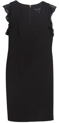 DKNY V-Neck Ruffle Cap Sleeve Dress
