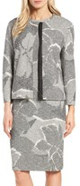 BOSS Women's Karala Jacquard Collarless Jacket