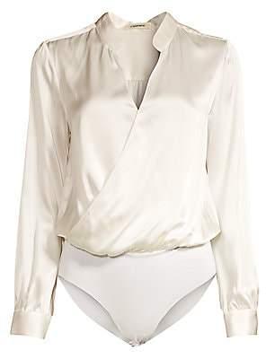 L'Agence Women's Marcella Silk Bodysuit