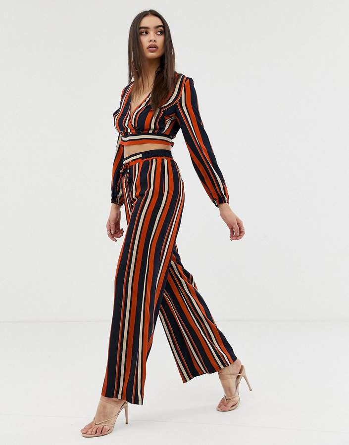 Outrageous Fortune wide leg pant co-ord in stripe print