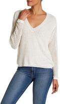Brochu Walker Estelle V-Neck Linen Blend Sweater