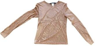 Martine Sitbon Beige Silk Top for Women