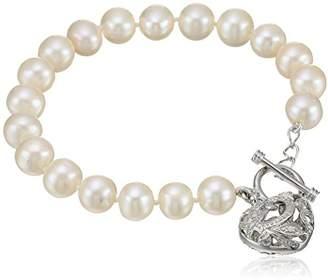 Bella Pearl Heart Toggle Bracelet