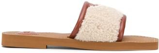 Chloé Shearling-Strap Sandals